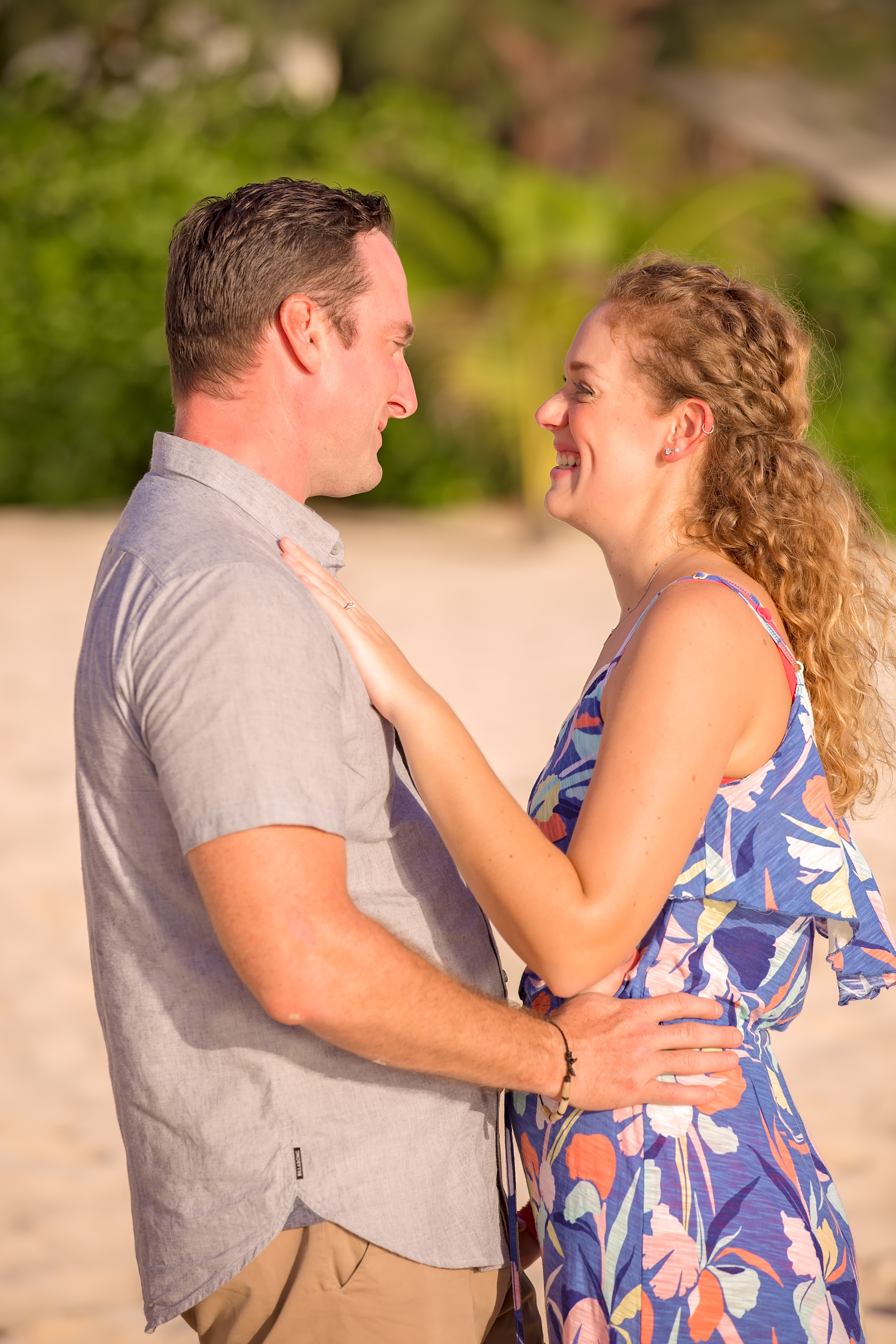 A Stunningly Simple Cayman Islands Engagement Shoot. Photography by Guy Waller Photography, Picture This Studios for Destination Wedding Blog Adriana Weddings