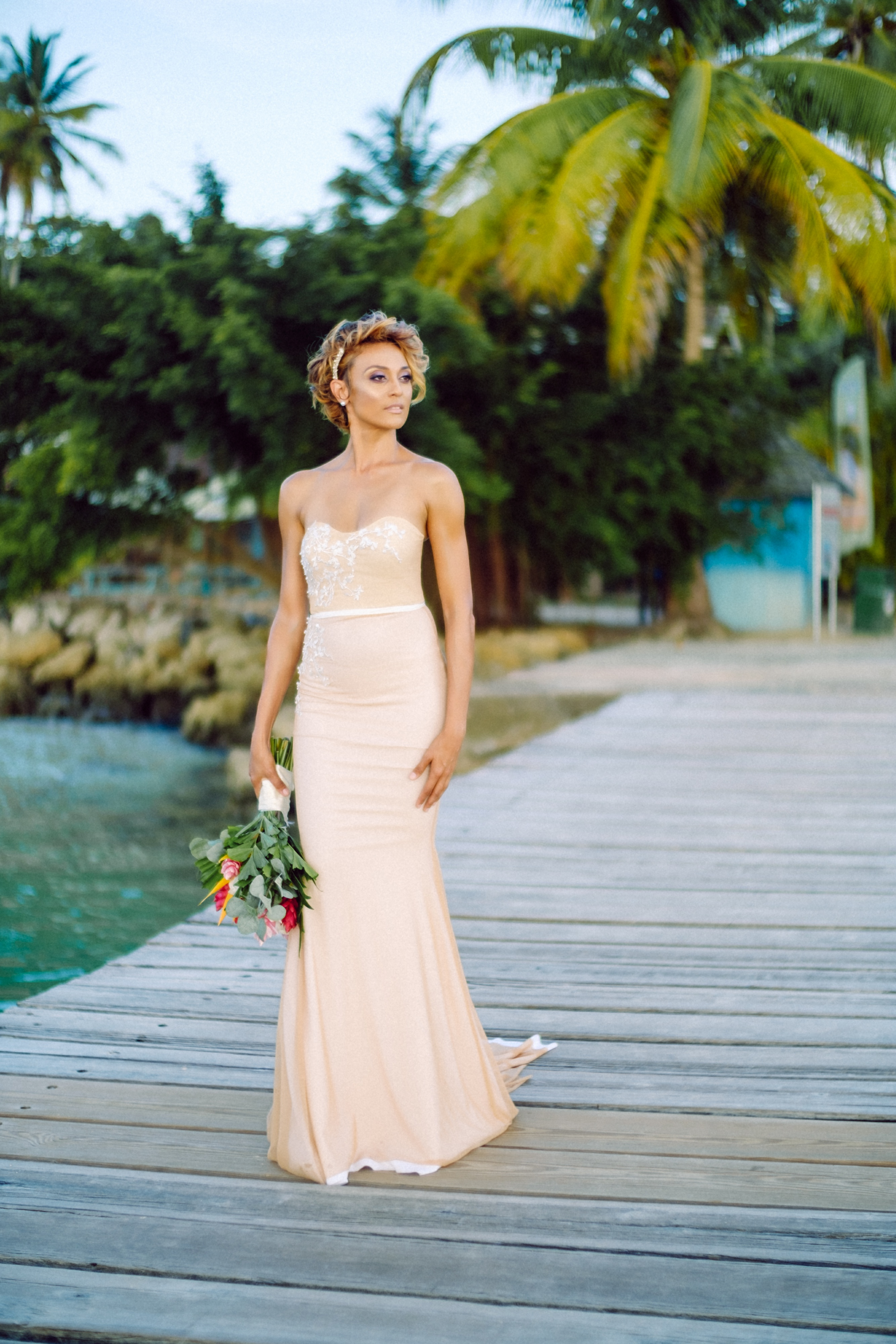 Tropical Elegance At Pigeon Point Heritage Park In Tobago, Photography by NCH Films, Decor by Daisy's Weddings for Destination Weddings Magazine ADRIANA, www.adrianaweddings.com
