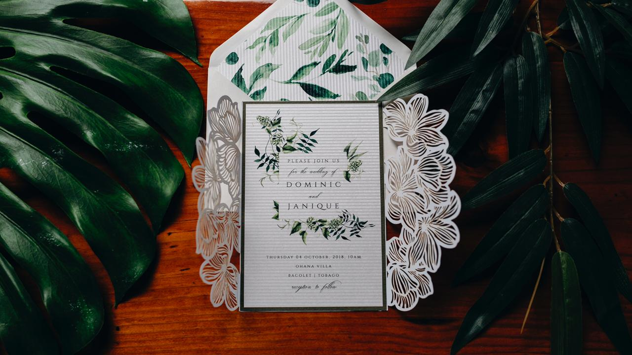 An Invitation To Paradise - A Garden Inspired Design, Wedding Stationery by Redcarpet Invitations for Destination Wedding Blog Adriana Weddings