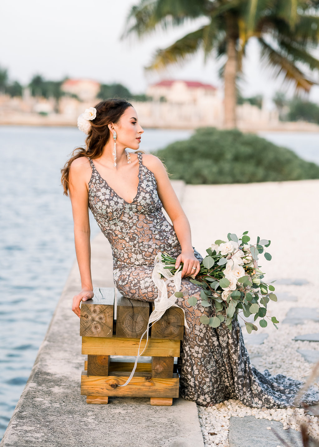 Bohemian & Romantic Wedding Inspiration from Cayman Islands, Planning & Decor by Amanda Jane . Direction Event Planning, Photography by Jenna Leigh Photography for Destination Wedding network Adriana Weddings