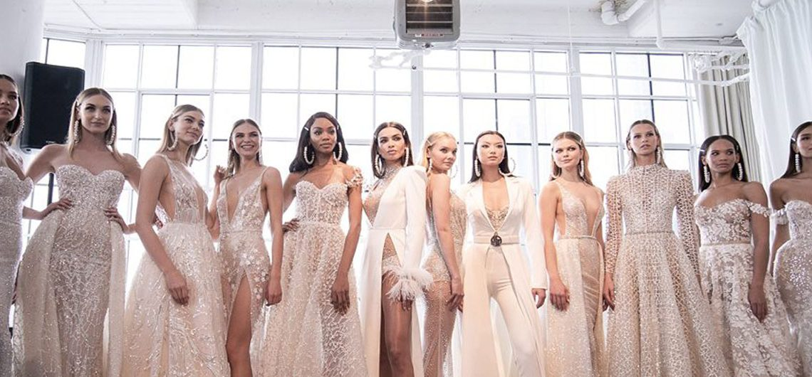 BERTA INTRODUCES SPRING/SUMMER 2020 COLLECTION AT NEW YORK BRIDAL FASHION WEEK for Destination Wedding Blog Adriana Weddings, CLD PR