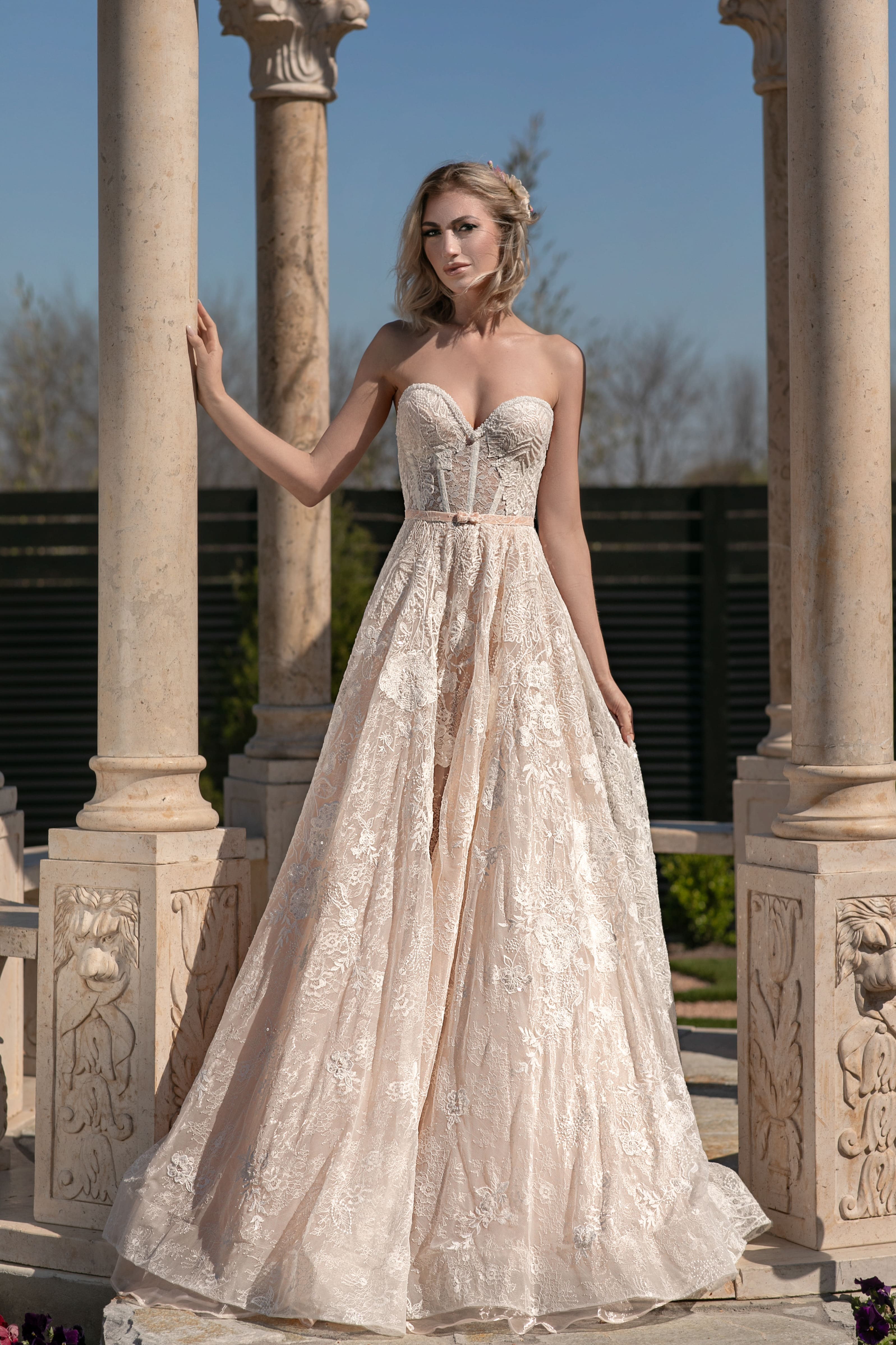 "Destination Brides Will Love Naama & Anat Haute Couture's New Collection ""Royal Blossom"", Rayce PR for Destination Wedding Blog Adriana Weddings"