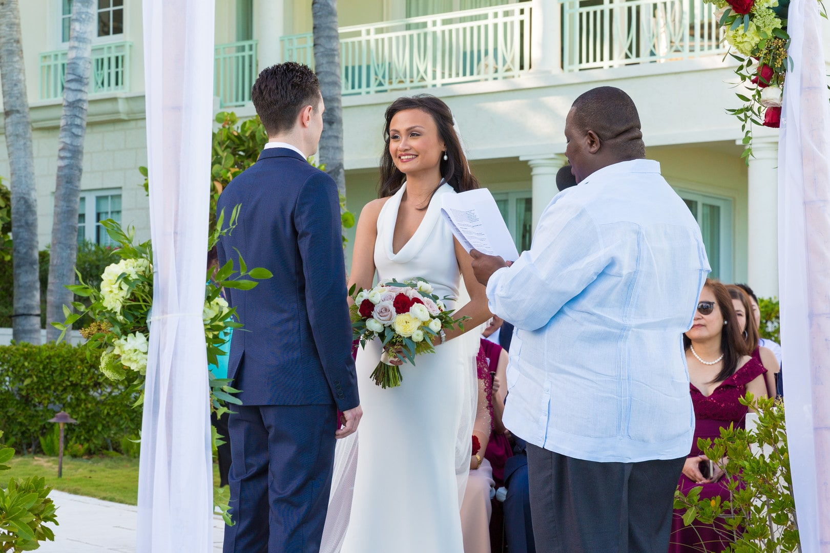 Faith and Nicho Tying Cultures in Turks & Caicos, Photography by Paradise Photography for Destination Wedding Blog Adriana Weddings