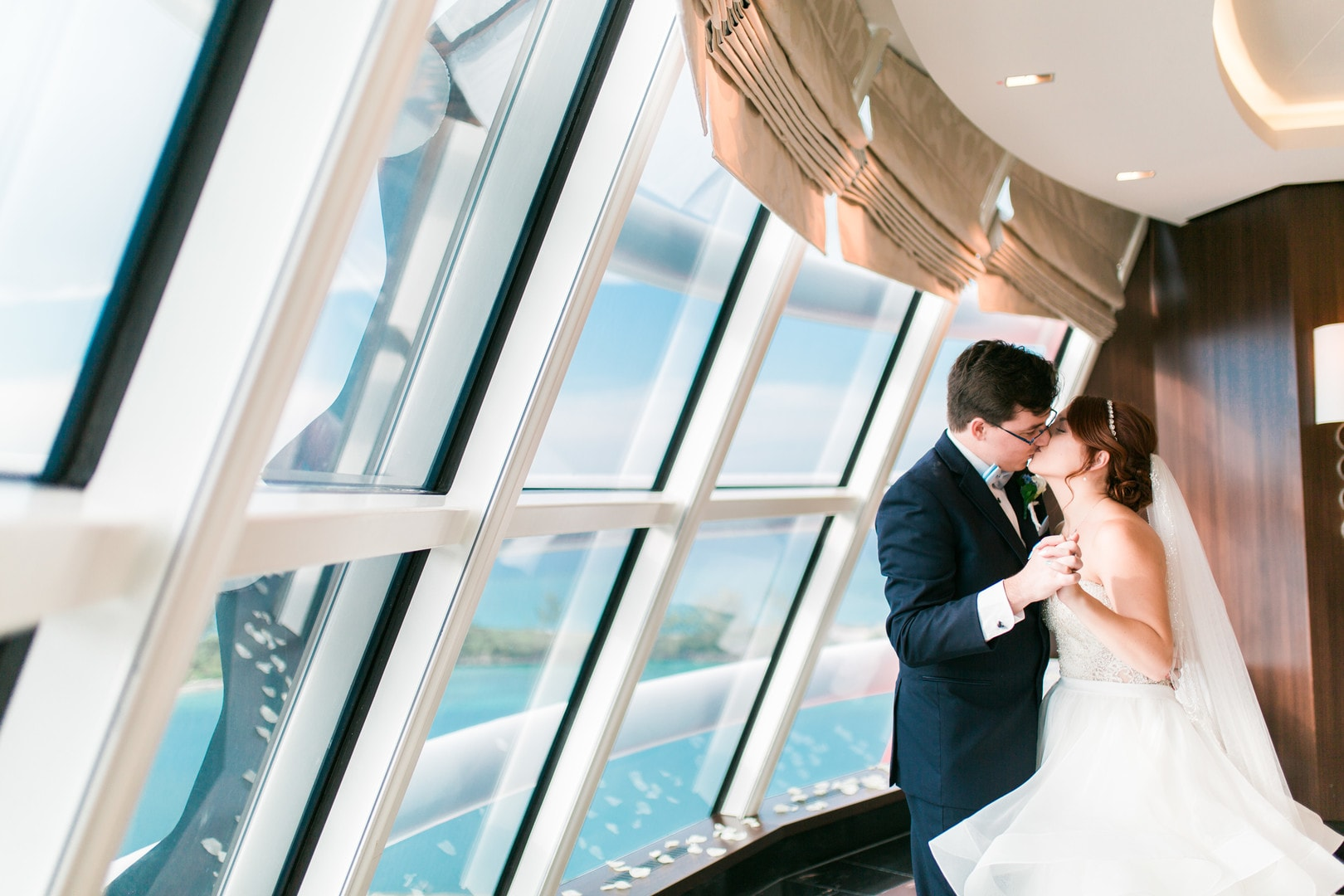 Stephanie & Matt's Disney Cruise Line Wedding Aboard the Disney Dream, Photography by Sugar Peach Productions for Destination Wedding Blog Adriana Weddings