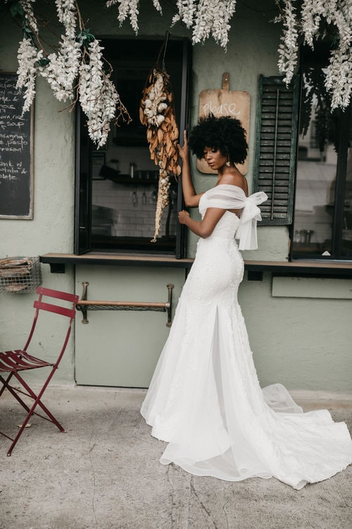 Georgia Young, 12 Insanely Stylish Wedding Dresses For Your Destination Wedding for Destination Wedding network Adriana Weddings