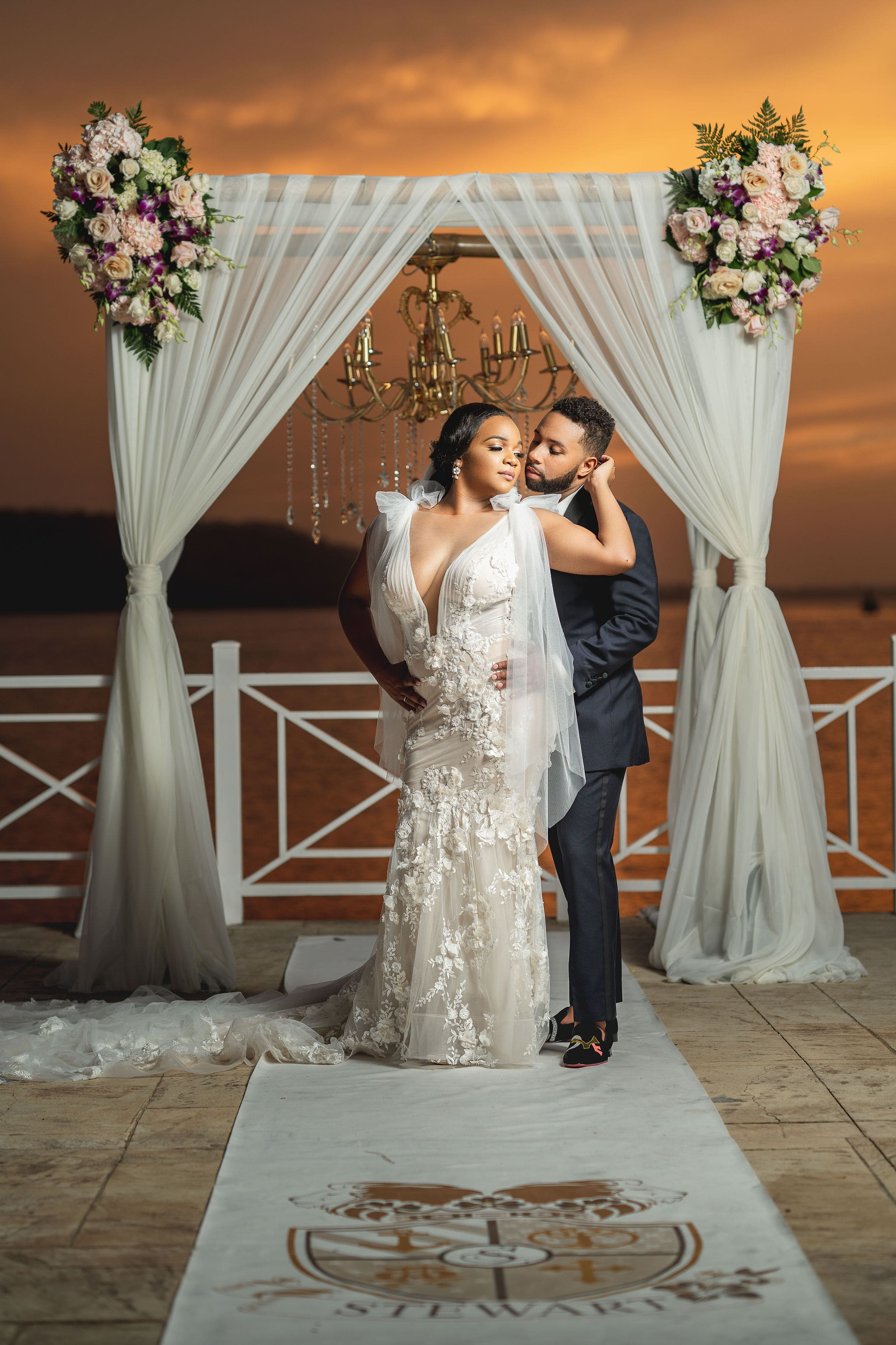 A Galia Lahav Dress For An Elegant Wedding At Moon Palace Jamaica Grande, Ocho Rios, Photography by CHINPHOTOGRAPHICS for Destination Wedding network Adriana Weddings