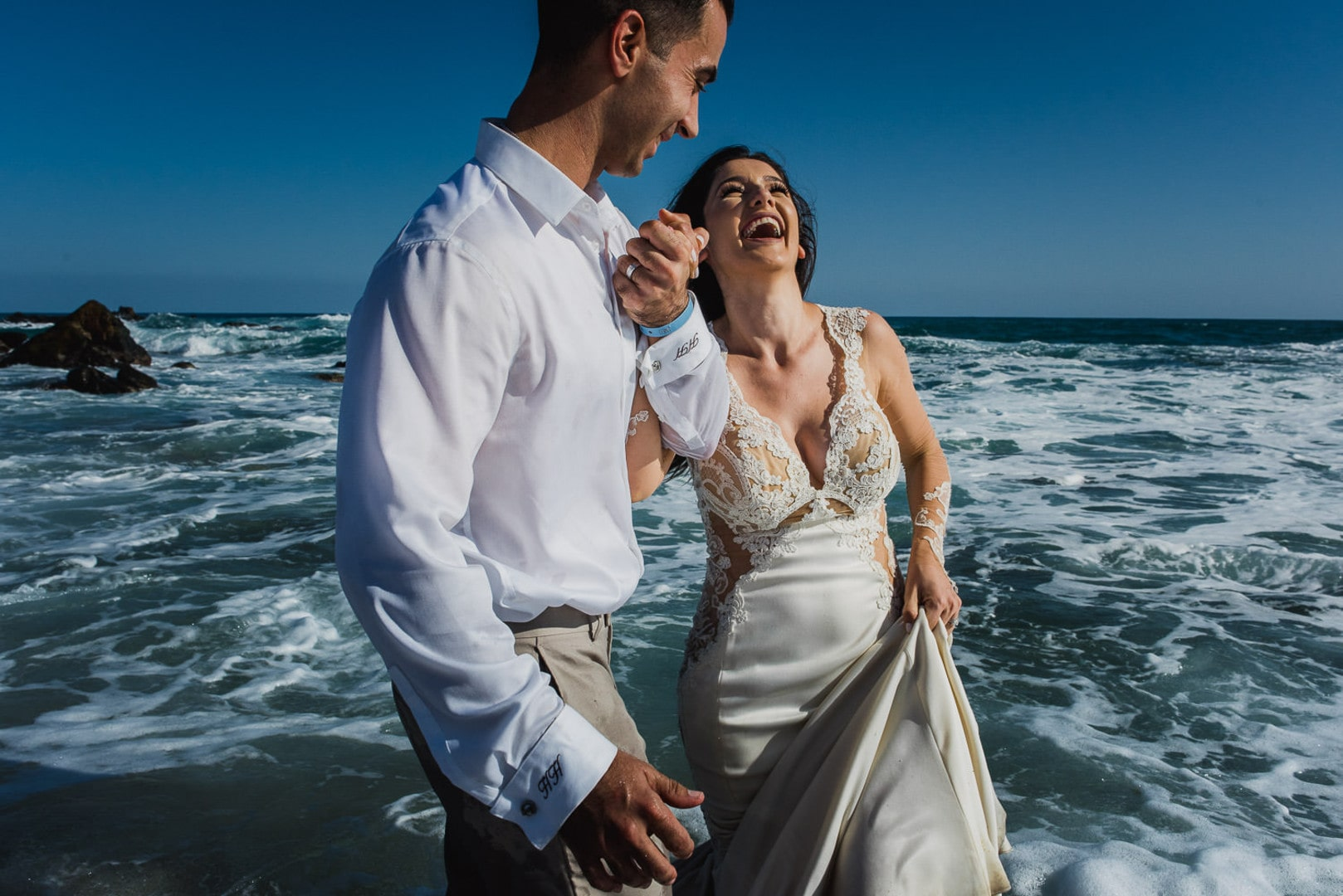 Hagop & Rose's Trash The Dress Session In Los Cabos, Mexico, Photography by gvphotographer for Destination Wedding network Adriana Weddings