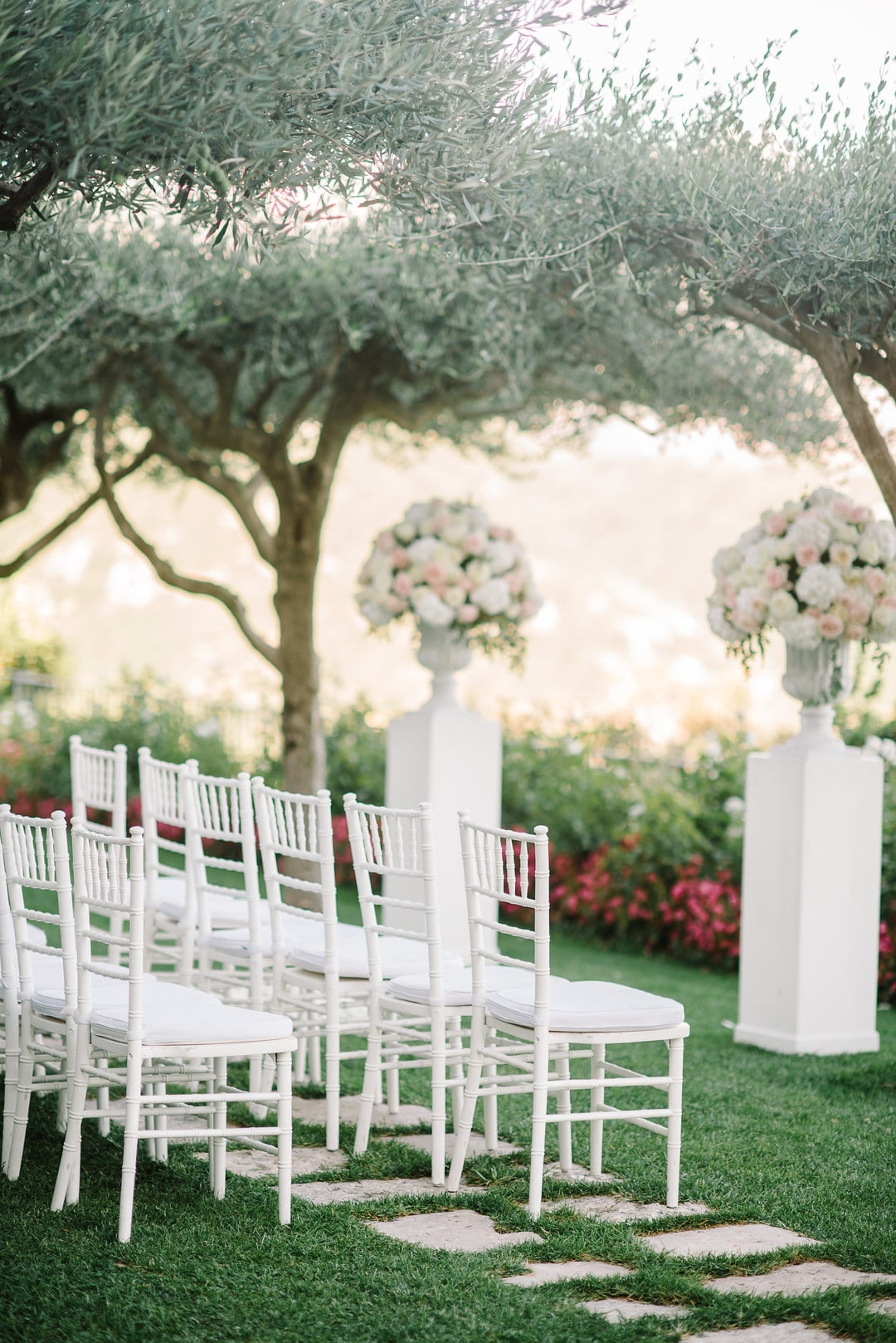 Denise & Brad's Lavender Garden Ceremony Overlooking the Amalfi Coast, Photography by Krysta Norman Photography for Destination Wedding network Adriana Weddings