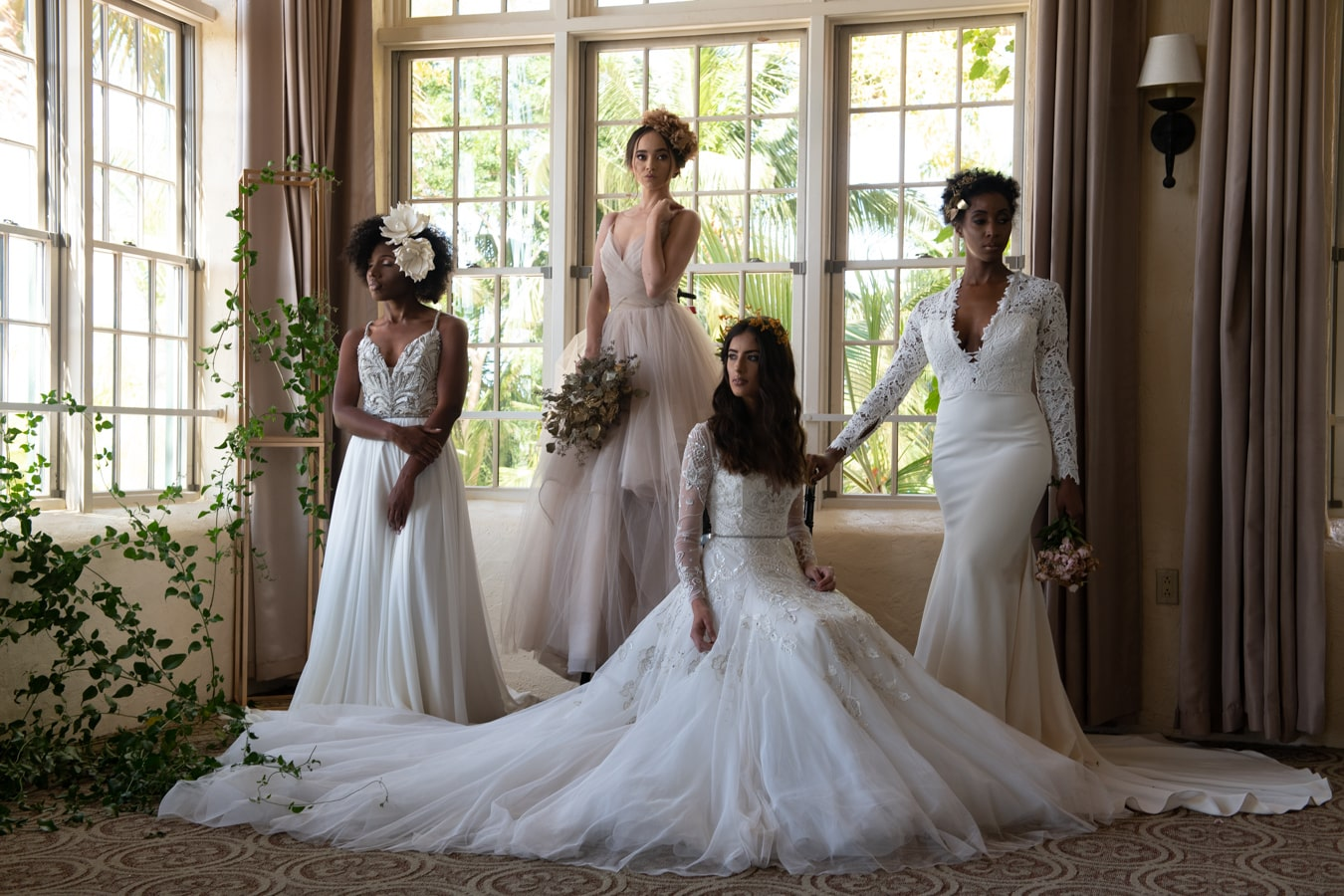Bridal Fashion Shoot Photographed at the Old Fort Bay Club in The Bahamas, Photography by Scharad Lightbourne for Luxury Destination Wedding network Adriana Weddings