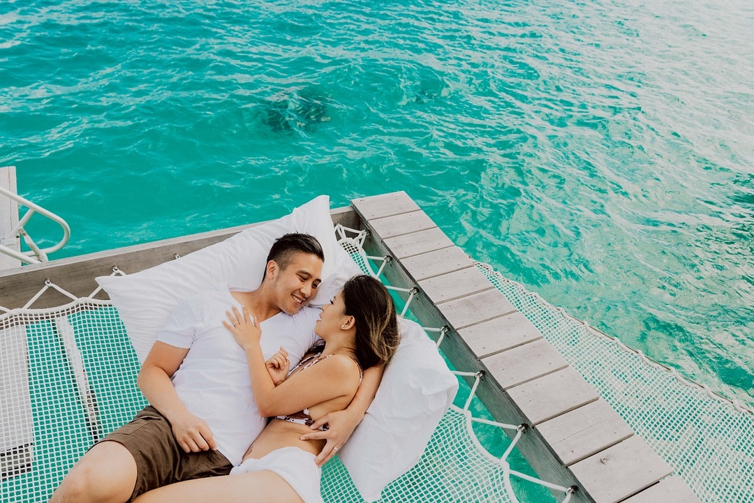 Tracy & Alvin's Dream Honeymoon in Bora Bora , Photography by Marc Gérard Photography - Bora Bora for Luxury Destination wedding blog Adriana Weddings