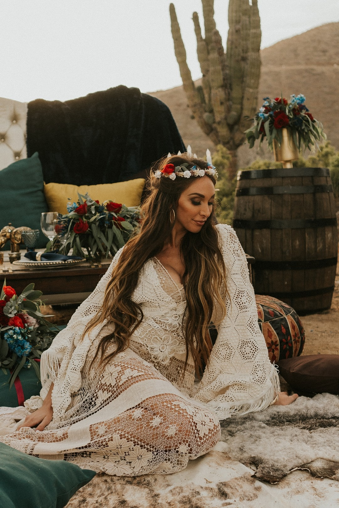 Bohemian Desert Lovers Tying the Knot in Baja California Mexico, Photography by Dani Marie Photography for Destination Wedding Blog Adriana Weddings