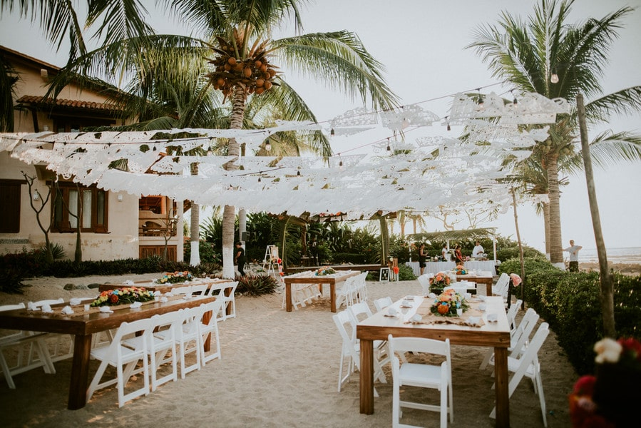 Lesley & Joe's Laid Back Beach Wedding in Trocones Mexico, Photography by Natural Intuition Photography for Luxury Destination wedding blog Adriana Weddings