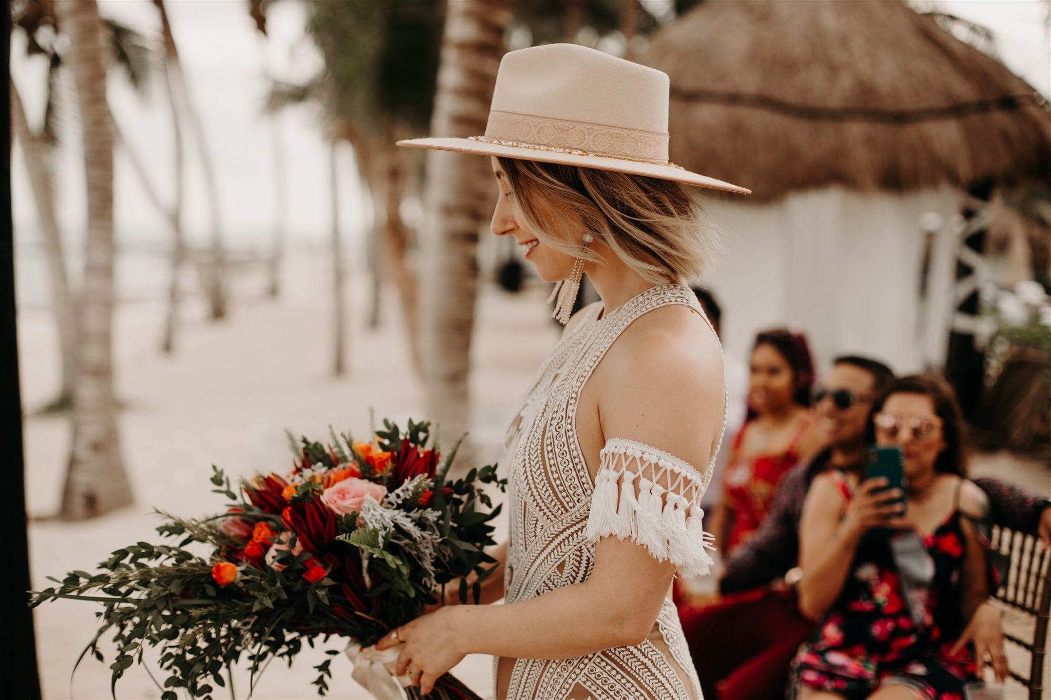 Allison & Manny's Gorgeous Bohemian Elopement in Cancun, Mexico, Photography by Amber Dawn Photography for Luxury Destination Wedding Blog Adriana Weddings