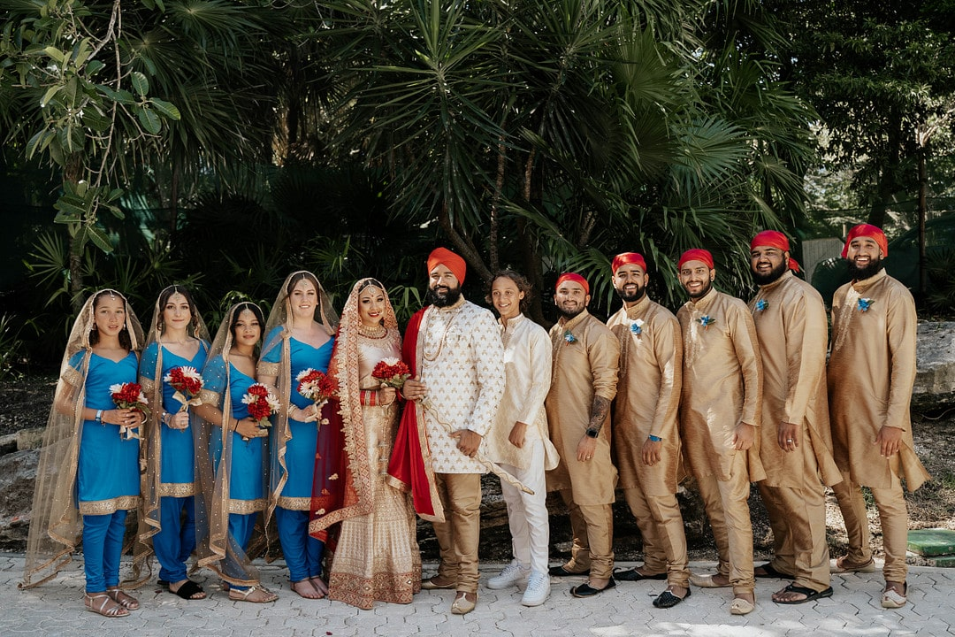 Talyn & Dilly's Indian & Boho Wedding in Cancun Mexico, Photography by Tomo.photography for Luxury Destination Wedding Blog Adriana Weddings