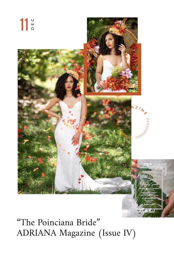 The Poinciana Bride as seen in ADRIANA Magazine (Issue IV), Photography by PD Photography, Creative Coordination by Heaven Sent Her, Bahamas wedding, destination wedding, Caribbean weddings