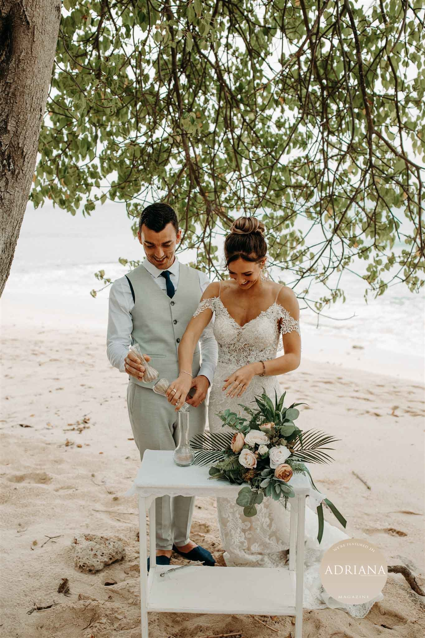 Chloe & James's Bohemian Elopement in Barbados, Luxury destination weddings as seen in ADRIANA Magazine (Issue IV), Photography by Amber Dawn Photography
