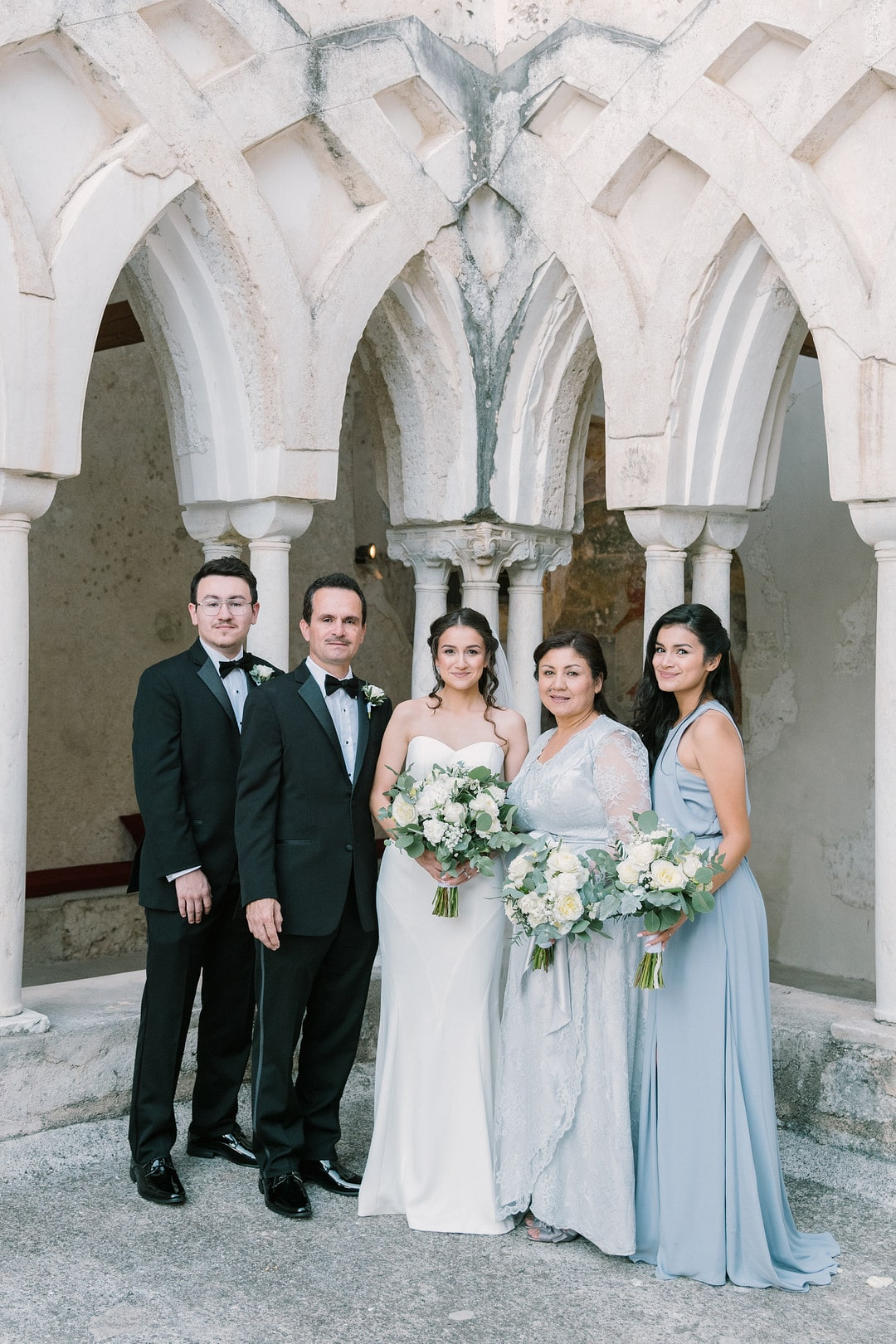 A Dreamy Floral Filled Destination Wedding with Blue & Neutral Tones, Photography by Andrea Gallucci Photographer